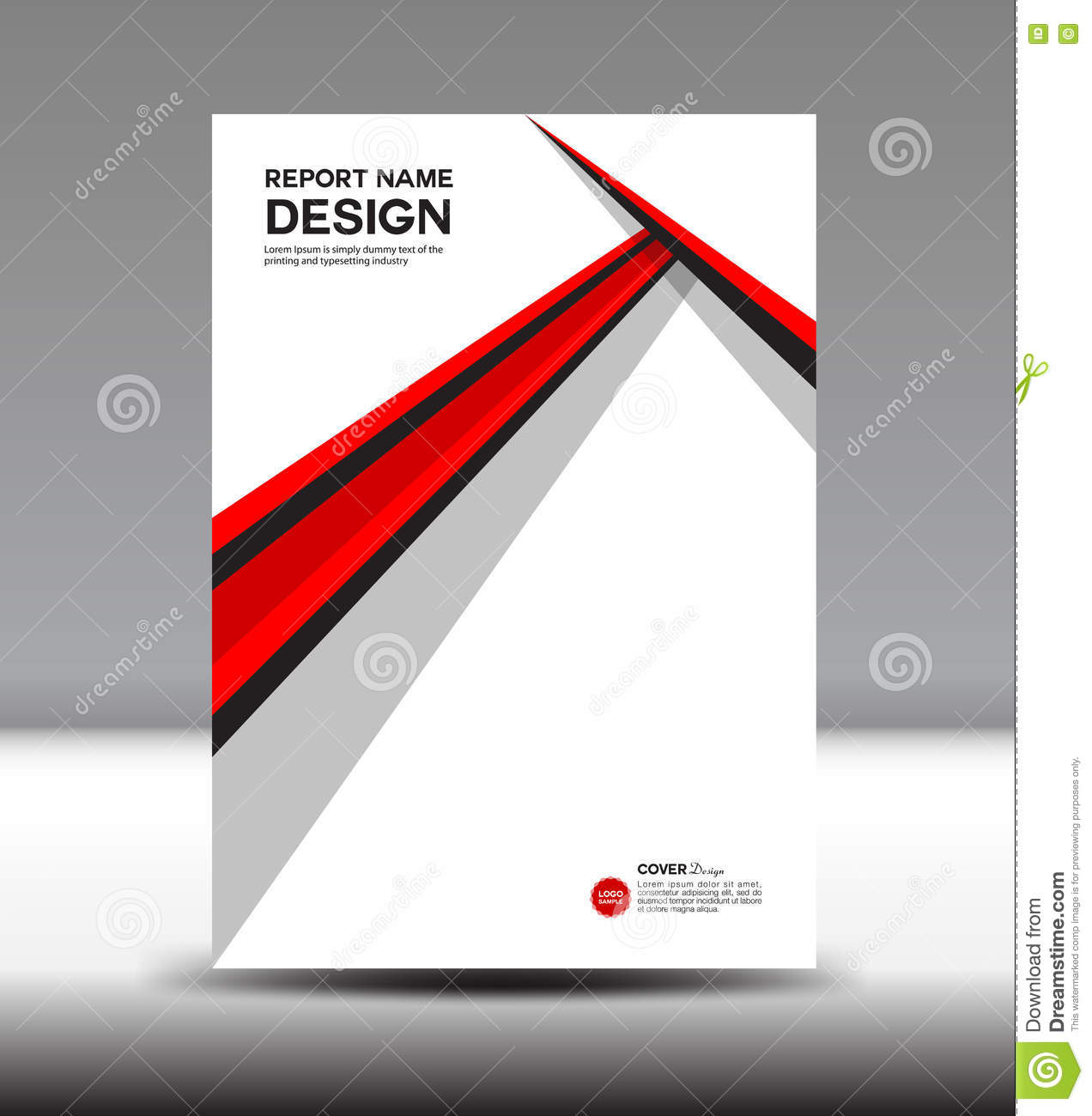 cover annual report red cover design  brochure flyer