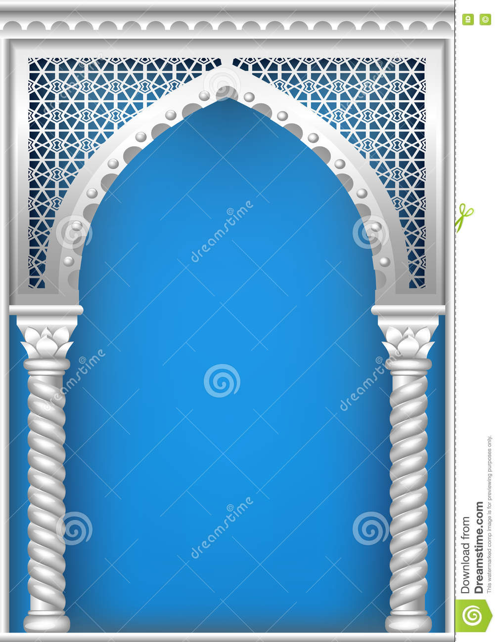 cover with the arab arch stock illustration illustration of east