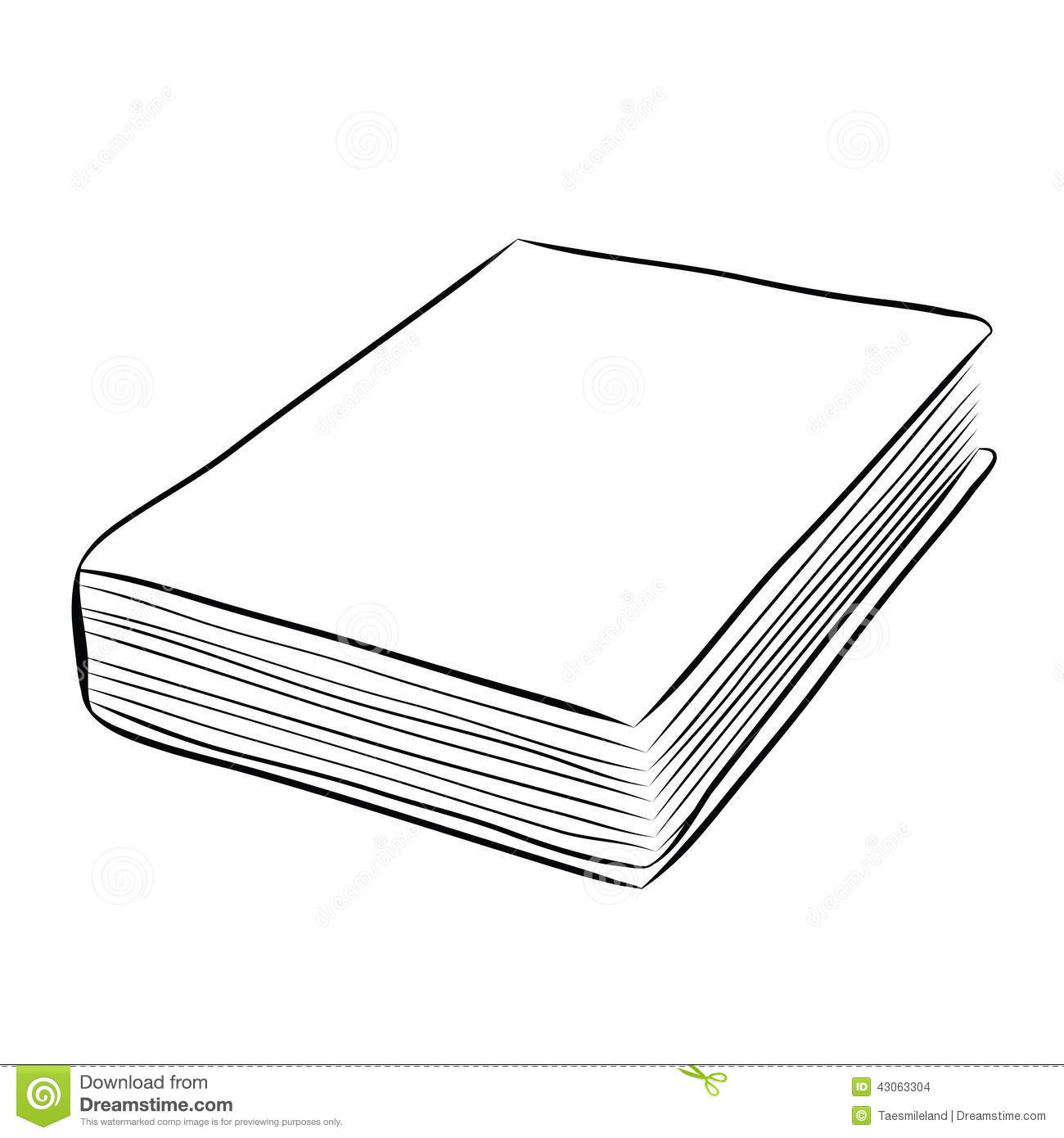 Simple Book Cover Drawing ~ Cover book hand draw stock vector illustration of
