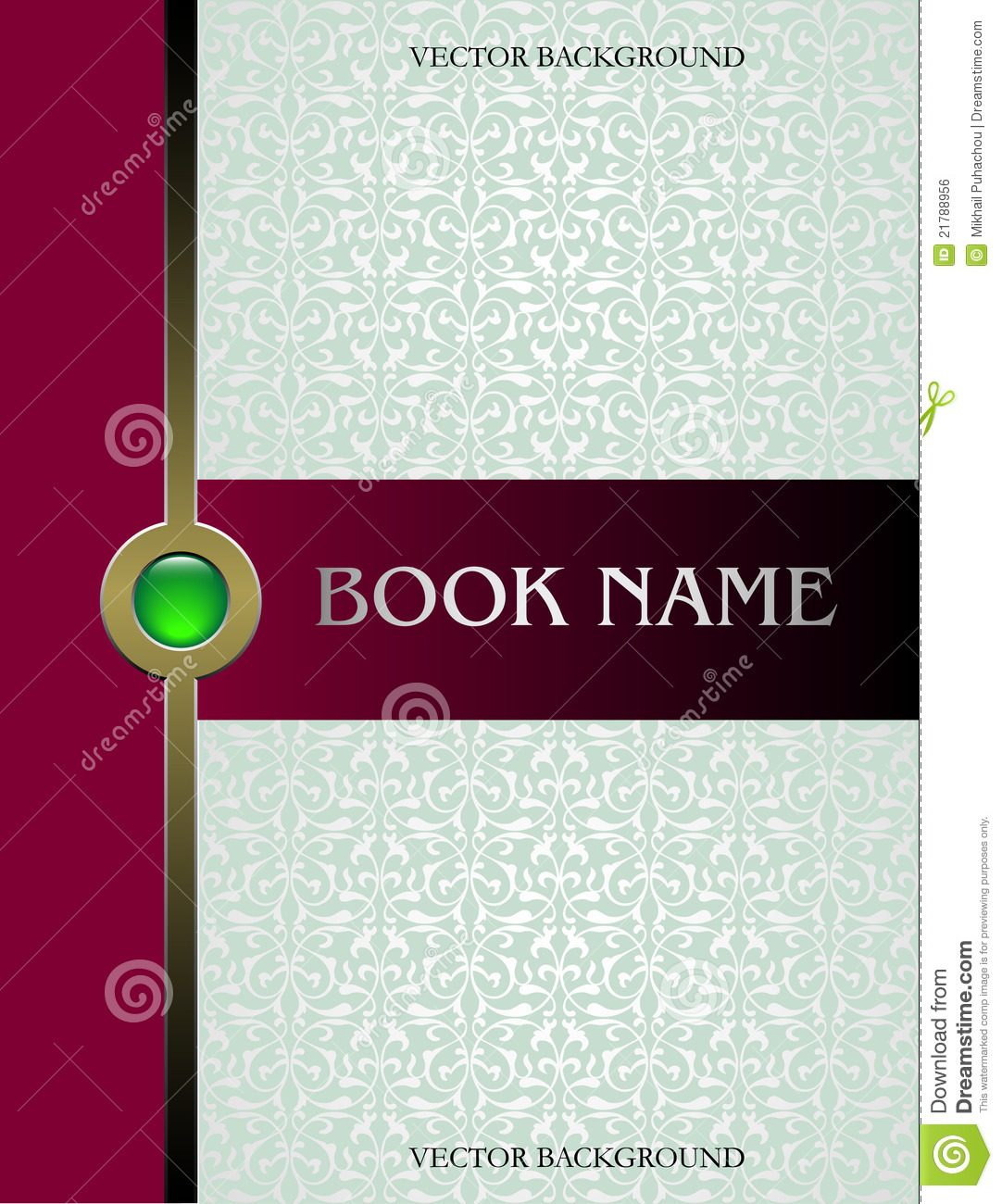 Illustrated Book Cover Vector : Cover book vector royalty free stock image