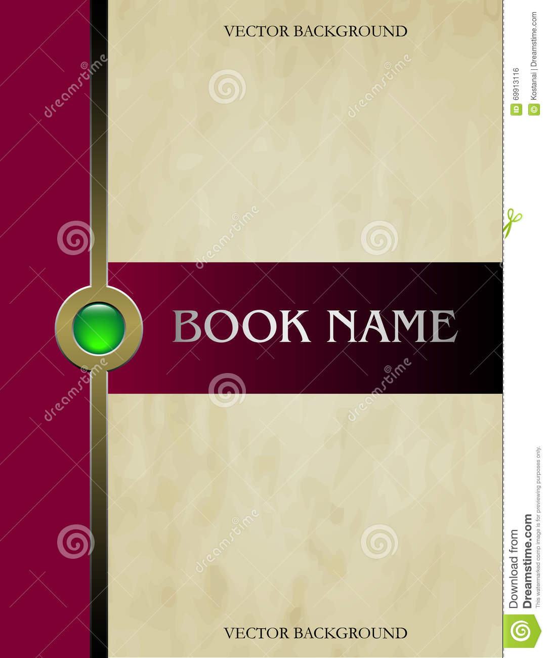 Pretty Book Cover Vector : Cover book vector stock image