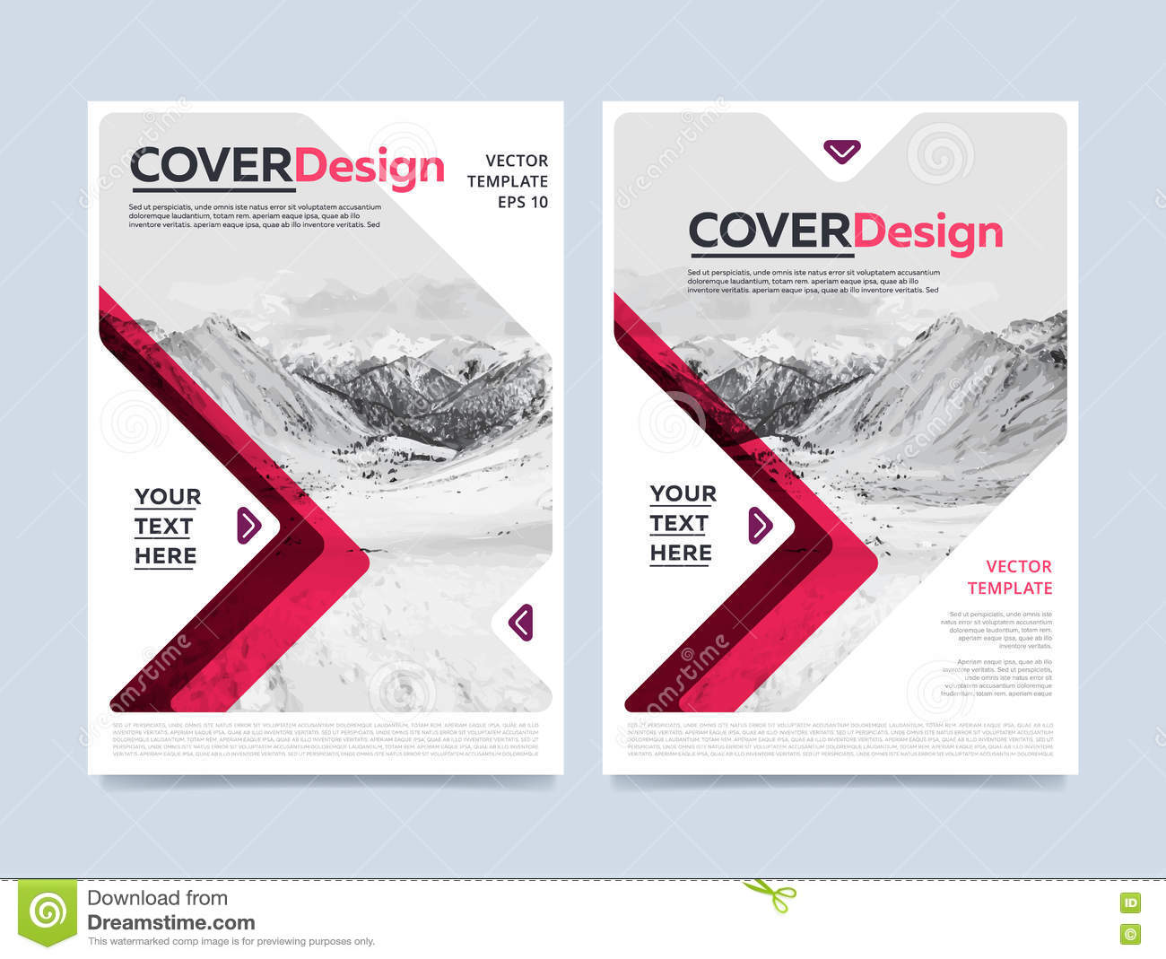 Cover design for annual report or brochure stock vector for Brochure cover designs