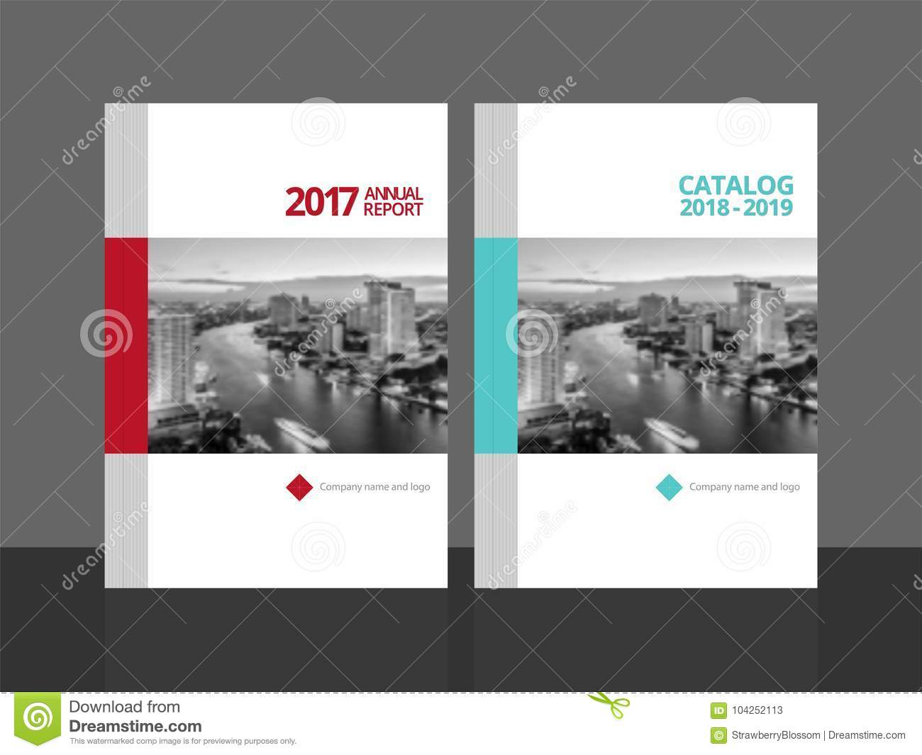 cover design annual report and catalog stock vector illustration
