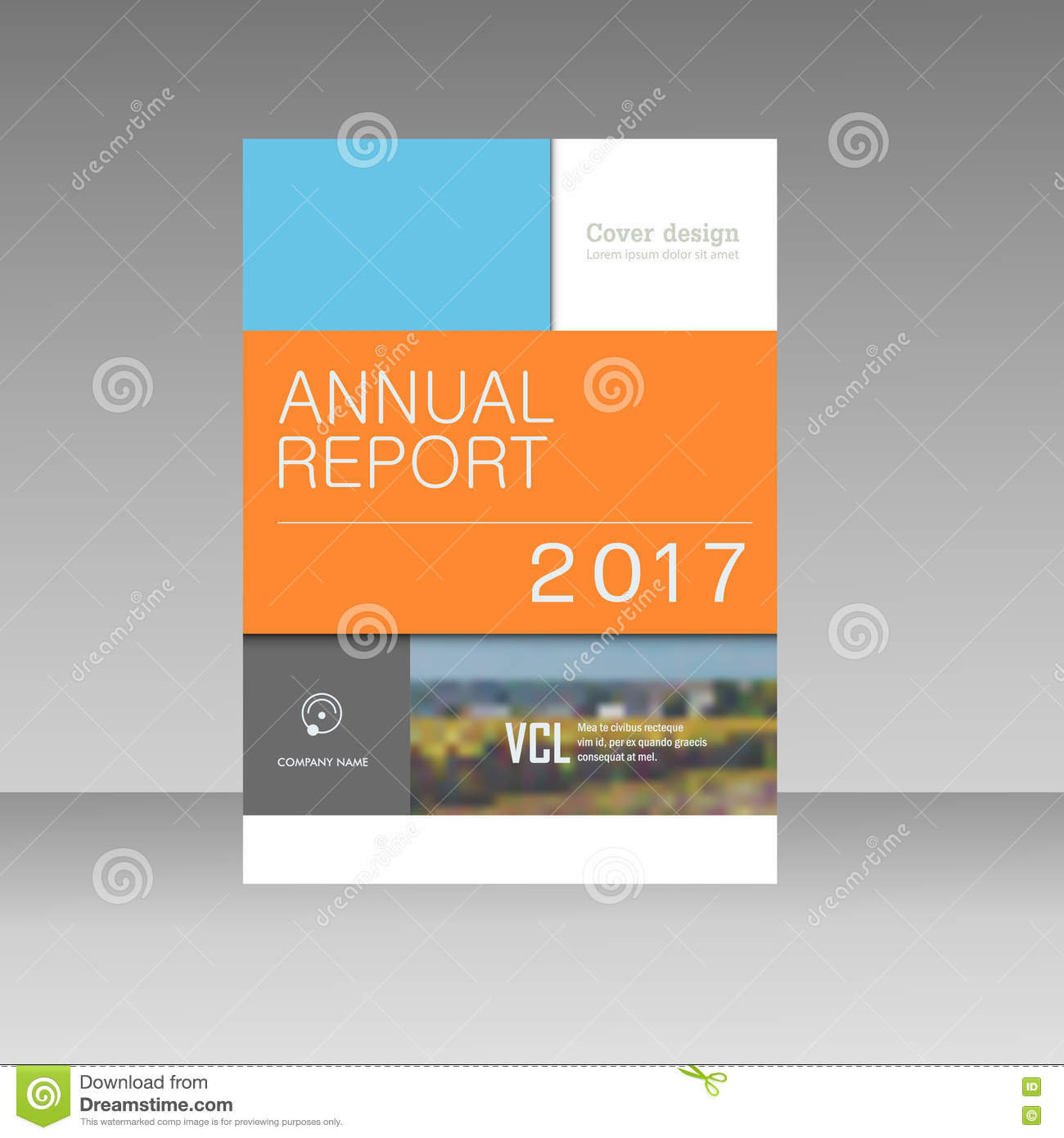 cover design for annual report catalog or magazine book or