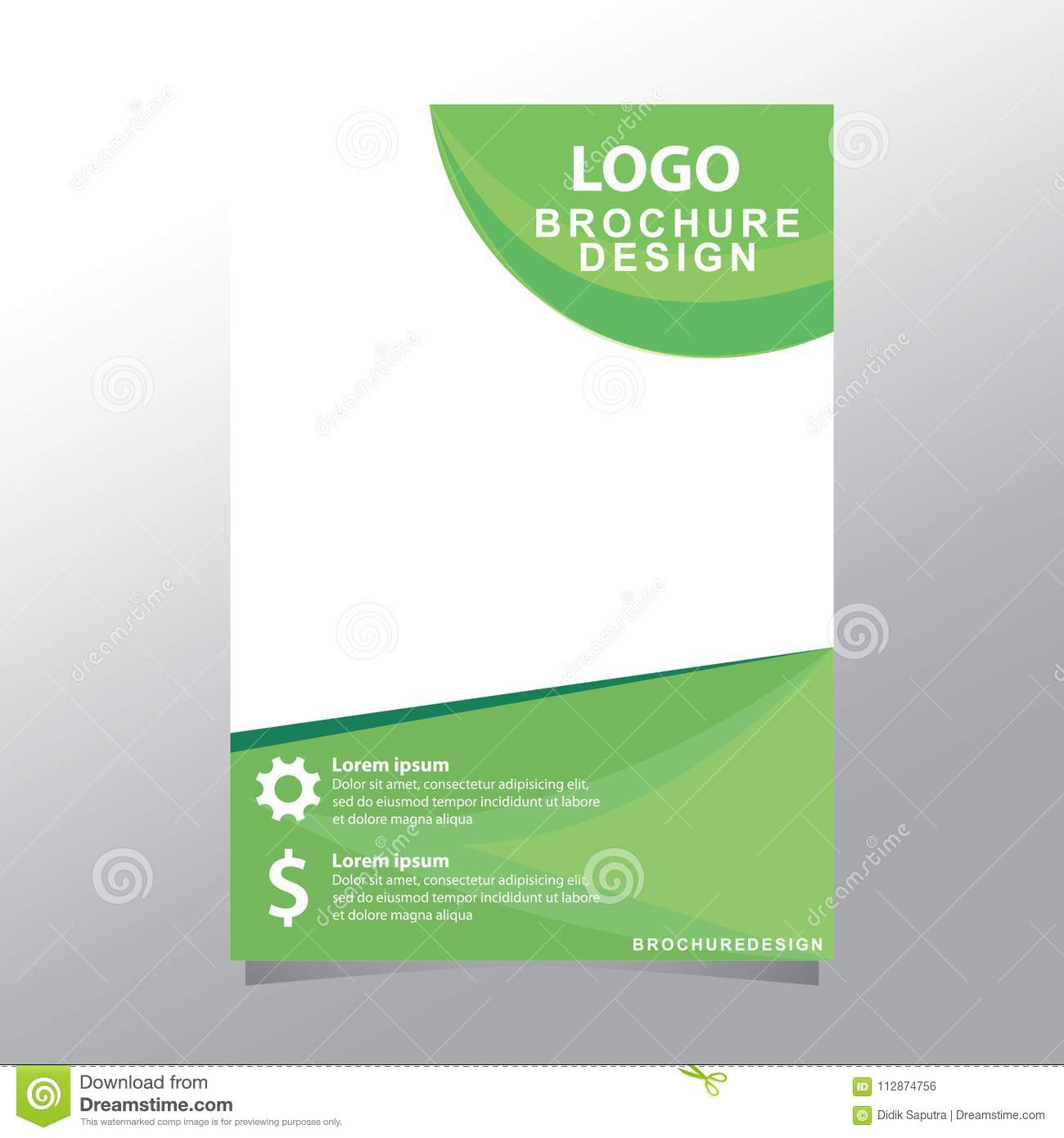 Cover Design Annual Report, Vector Flyer Template Design For