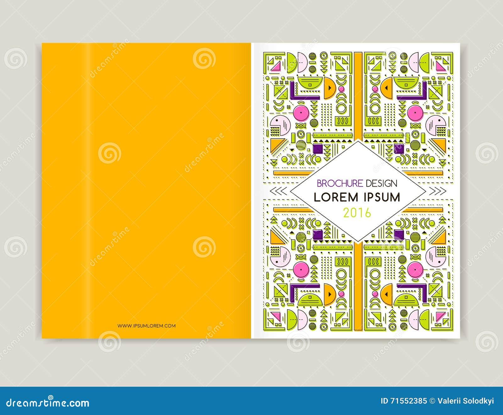 Cover Design For Brochure Leaflet Flyer. Modern Background Line ...