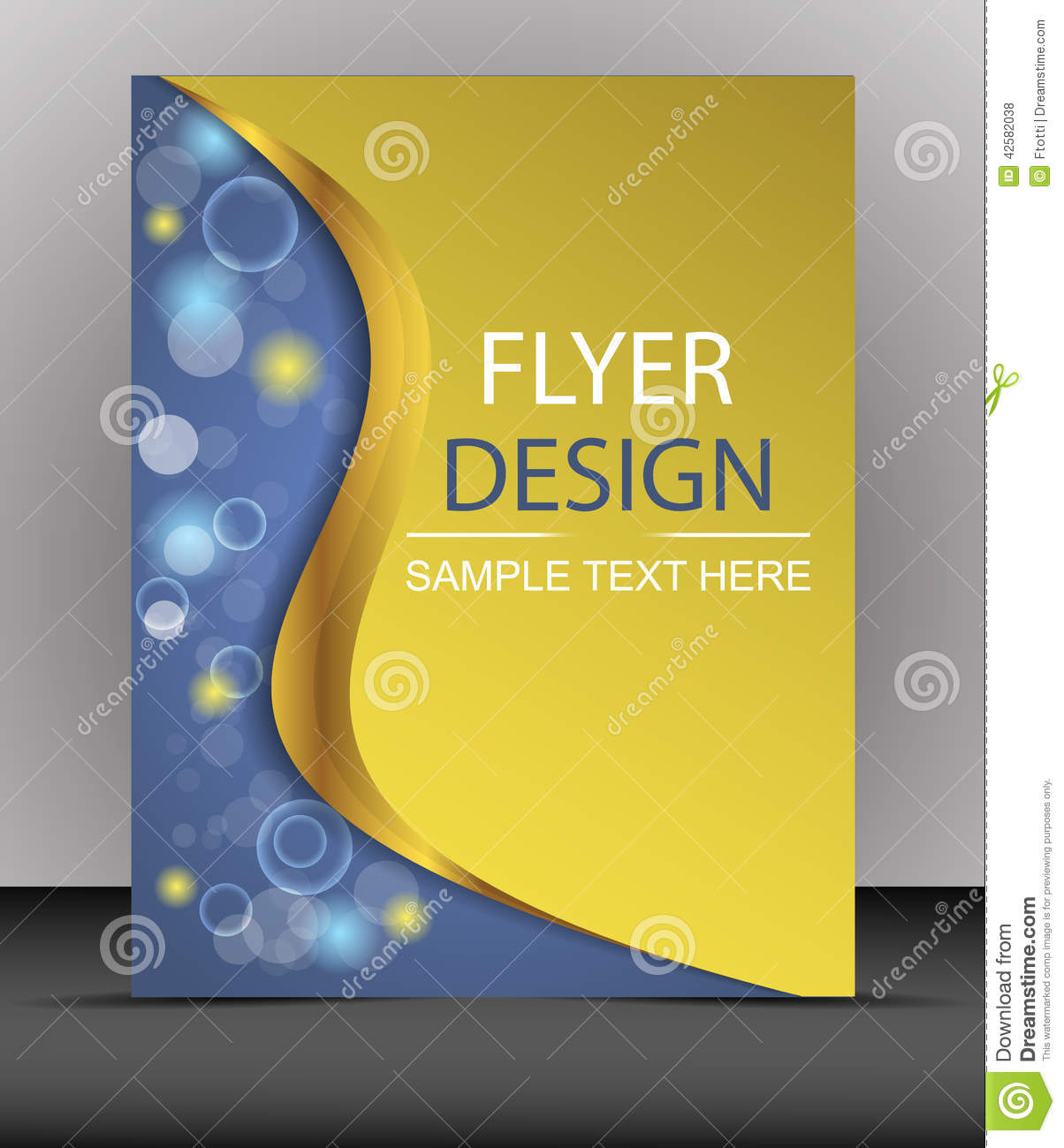 cover design  business flyer template  folder stock vector