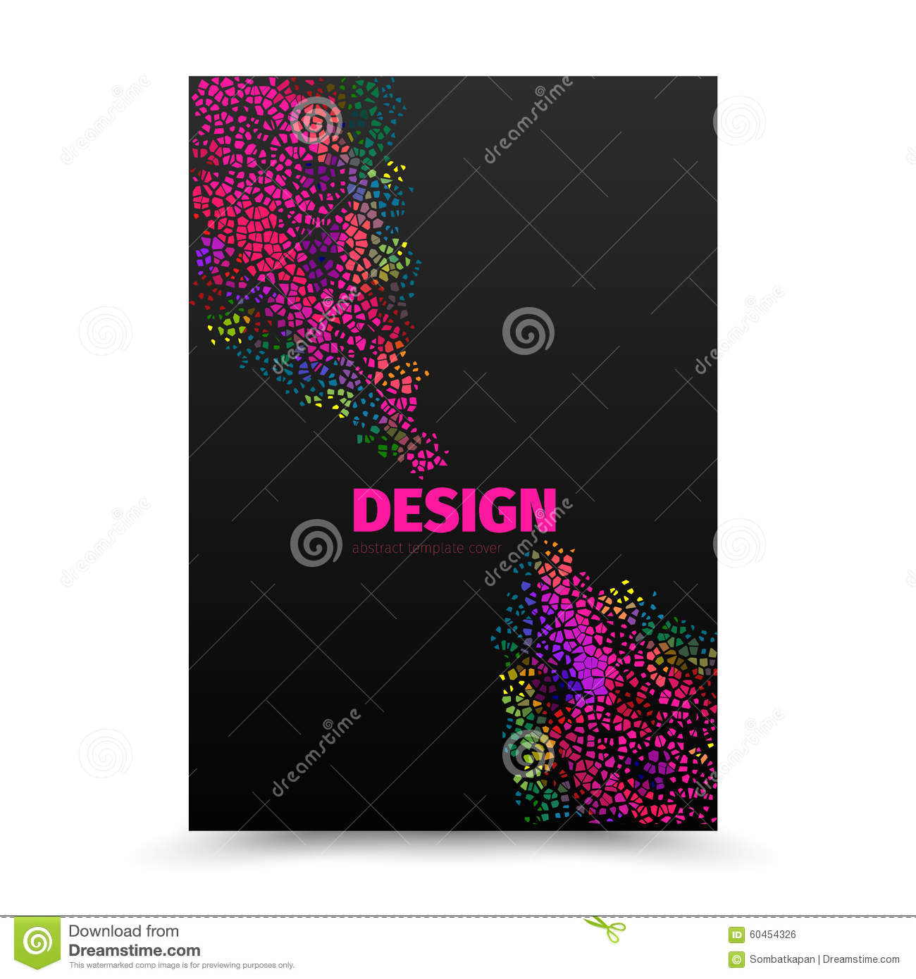 cover design layout template in a4 size  stock vector