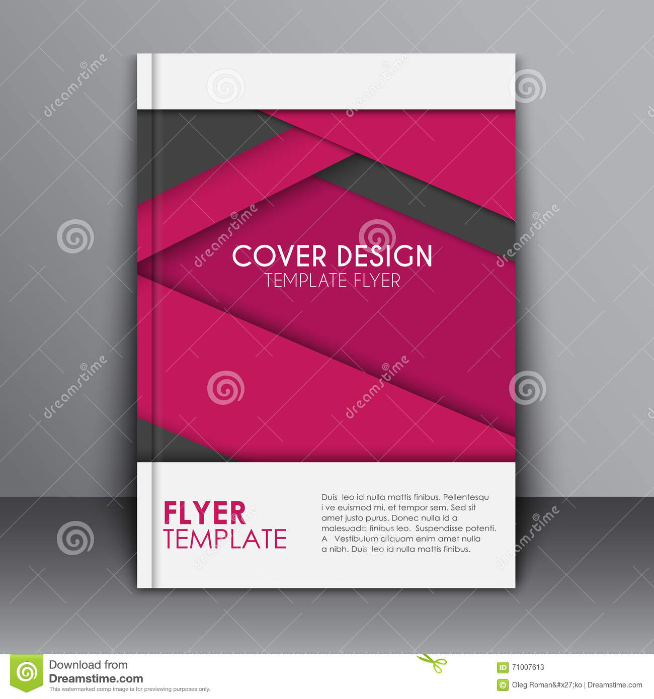 Book Cover Design Materials : Cover design in the material style stock vector