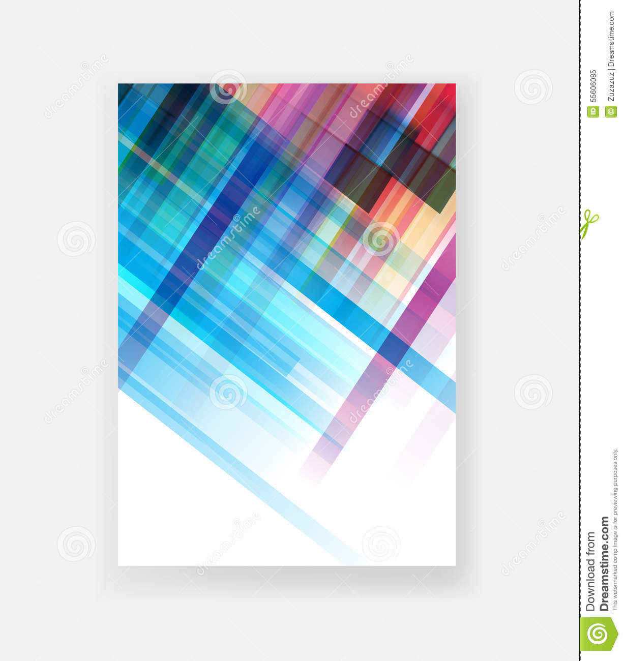 Cover design templates stock illustration image 55606085 for Book cover template illustrator