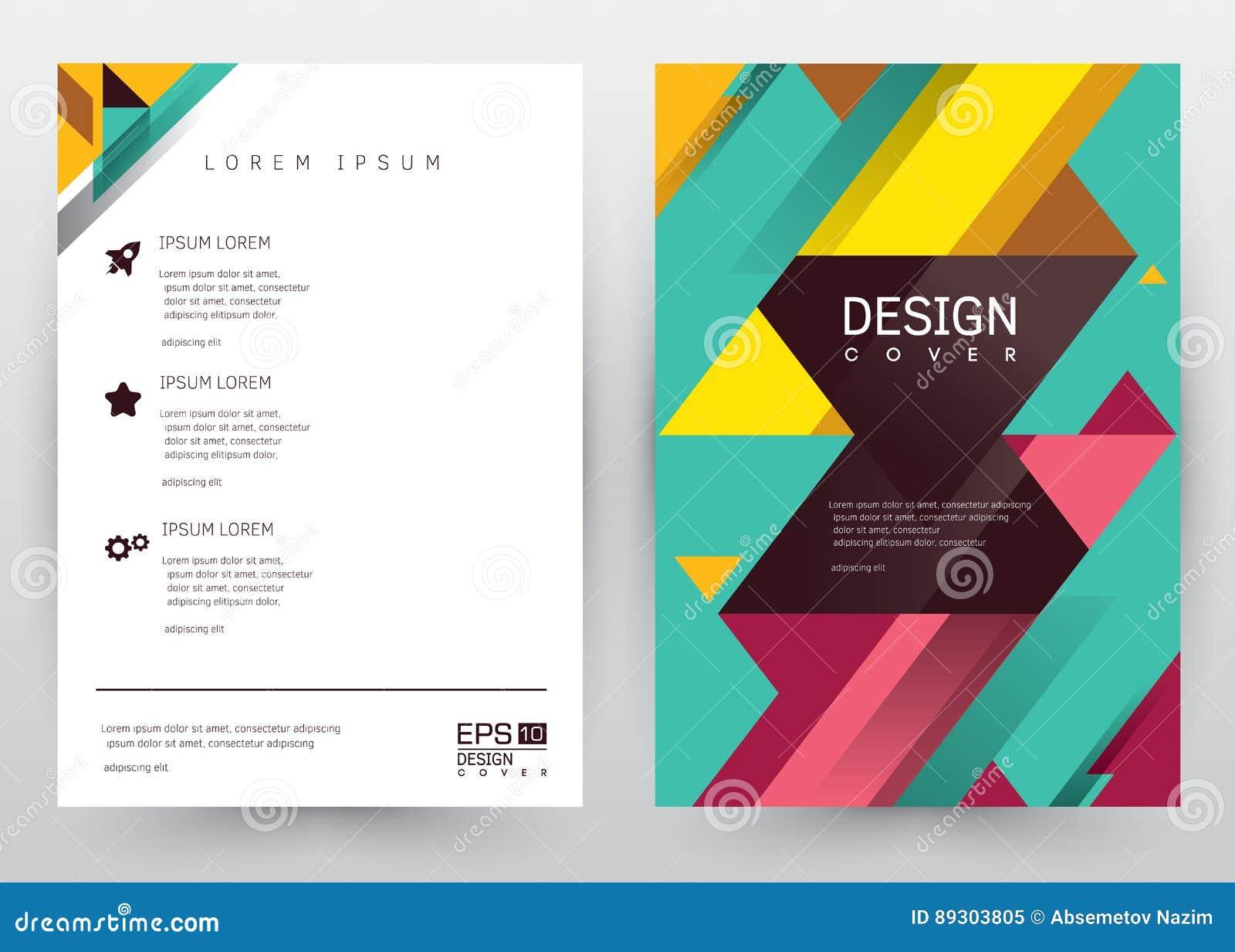 cover design vector template set brochure annual report magazine