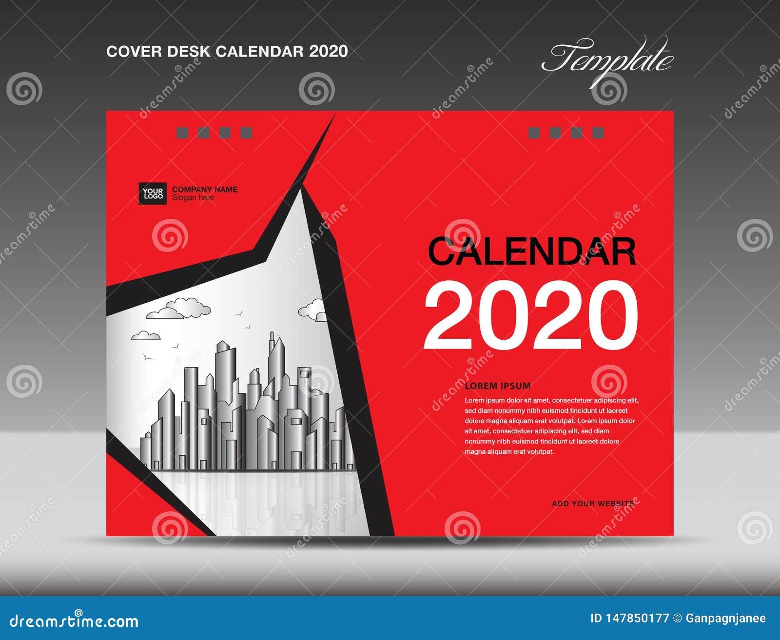 Cover Desk Calendar 2020 Design Flyer Template Ads Booklet Catalog Newsletter Book Cover Annual Report Cover Stock Vector Illustration Of 2020 Backdrop 147850177