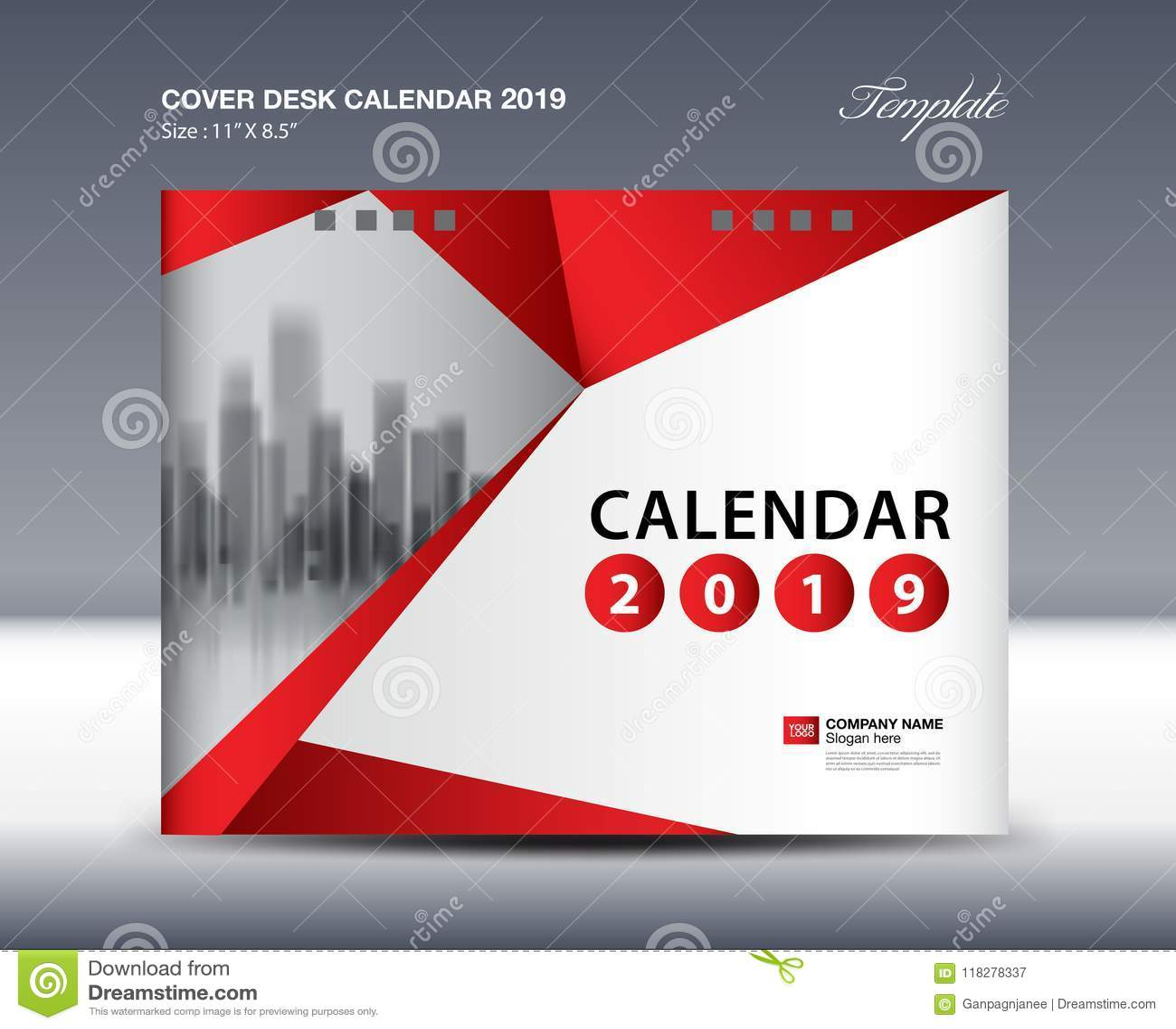 cover desk calendar 2019 design flyer template ads. Black Bedroom Furniture Sets. Home Design Ideas
