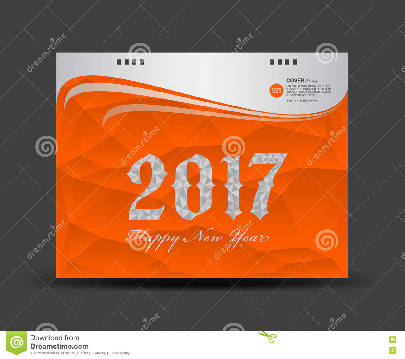 Book Cover Template Year : Cover desk calendar happy new year book