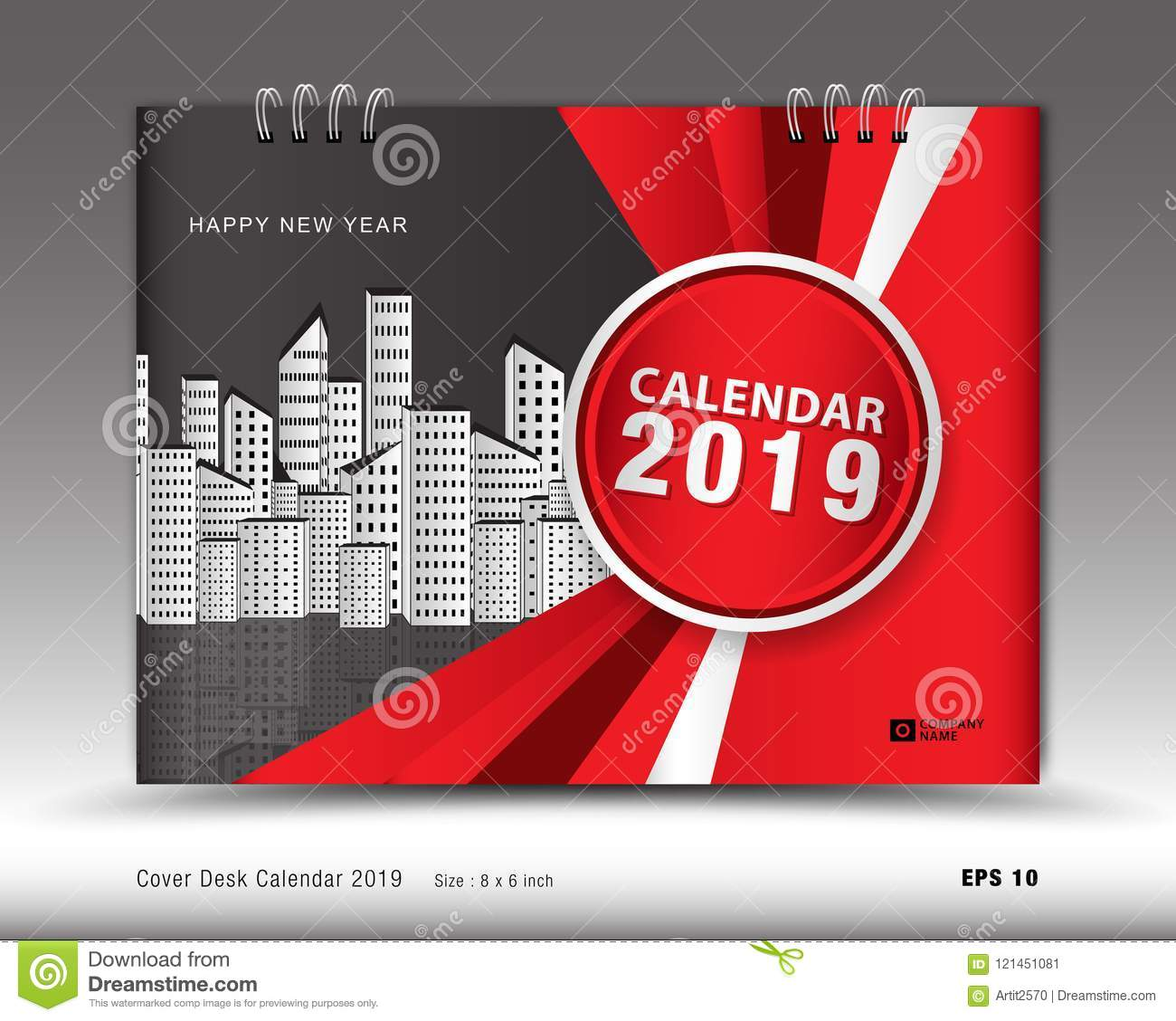 cover desk calendar for 2019 year template vector book cover layout
