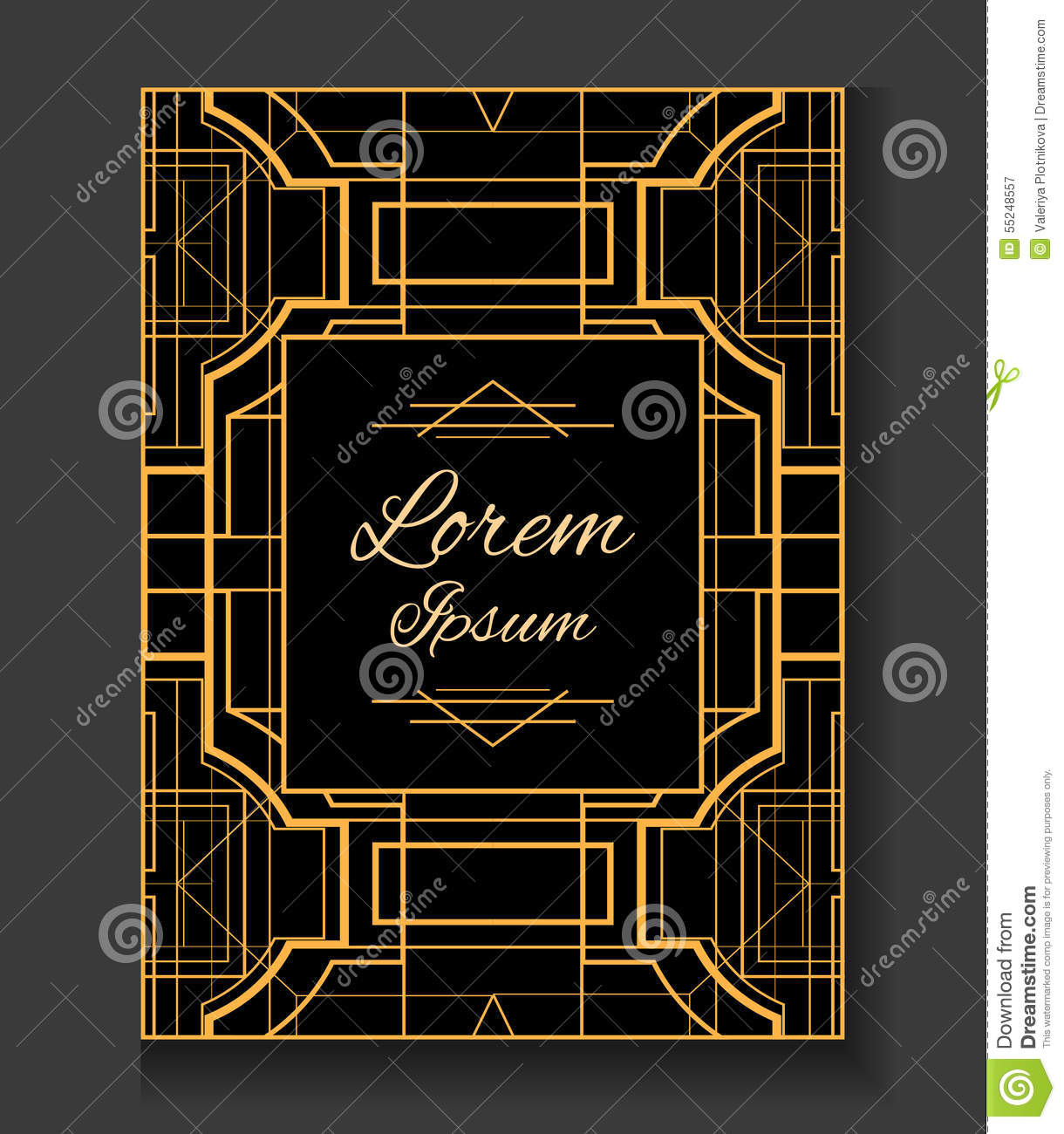 Cover invitation in the style gatsby stock vector illustration invitation in the style gatsby stopboris