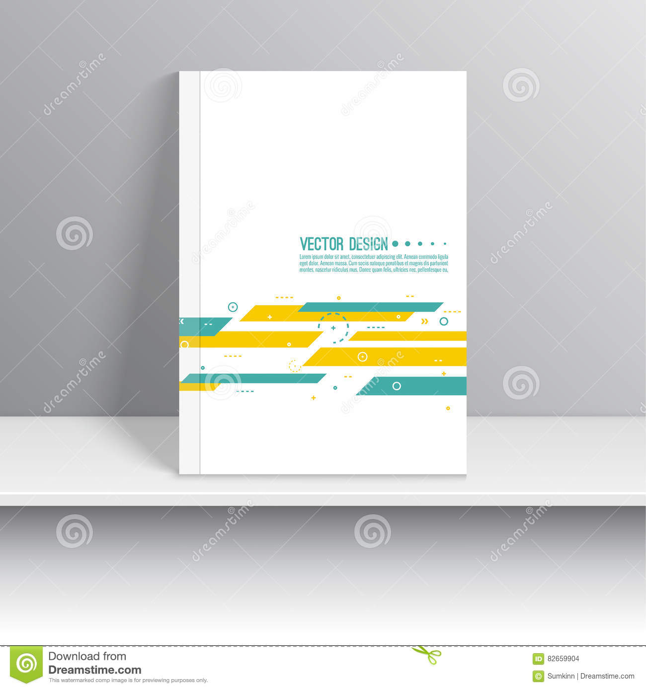 cover for journal stock vector illustration of annual 82659904