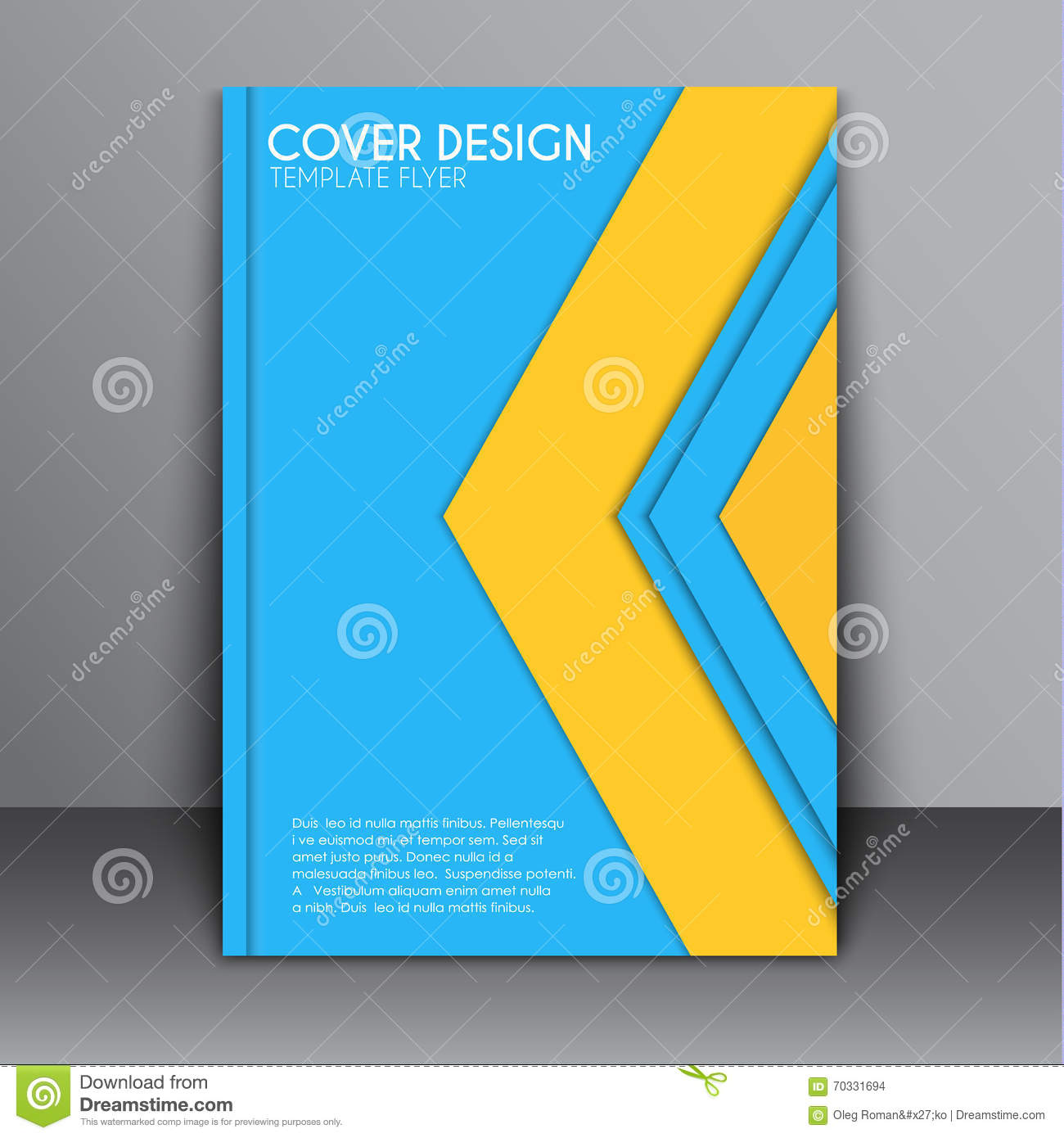 Material Design Book Cover : Cover material design style stock vector image