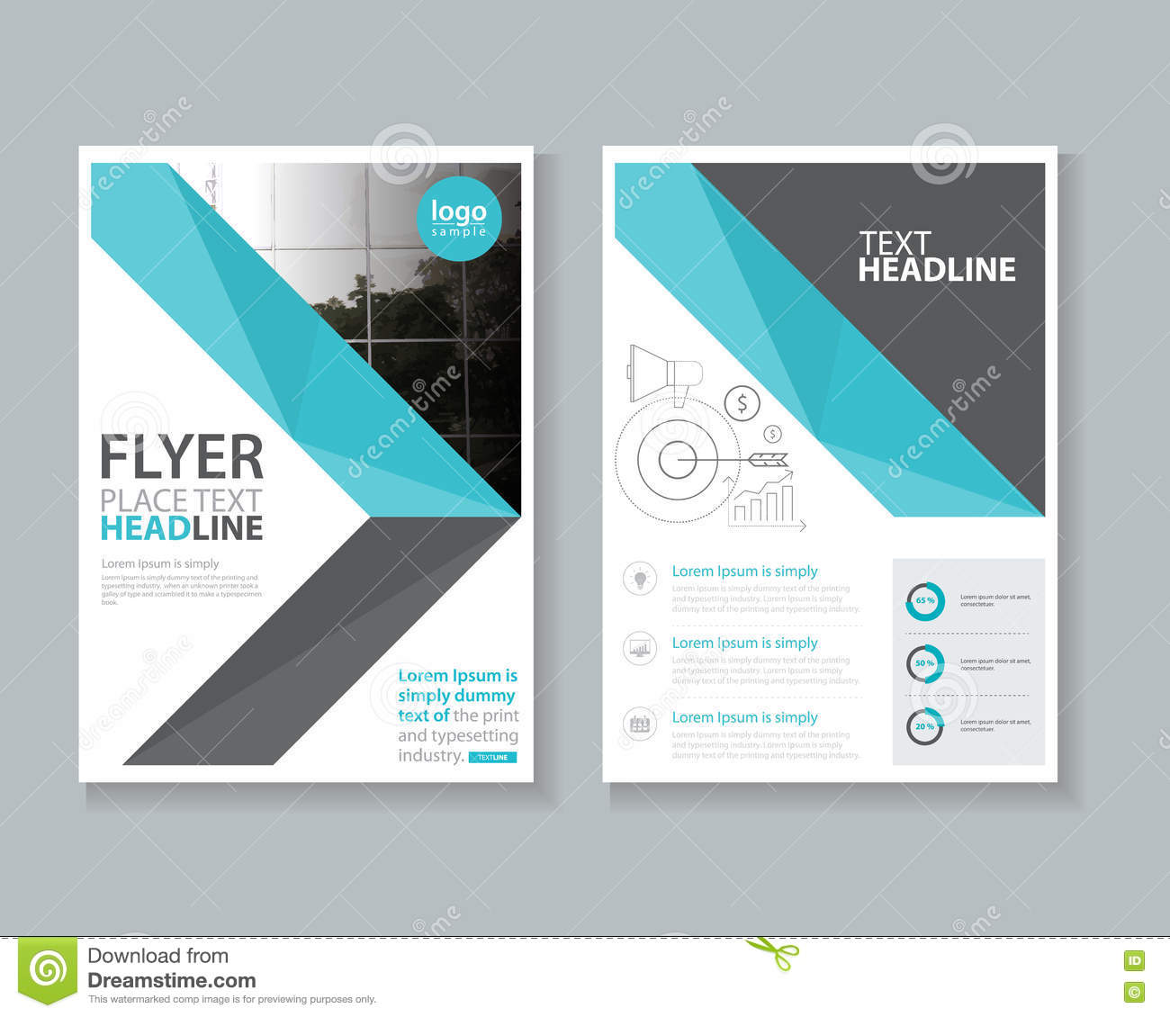 cover page brochure flyer report layout design template stock cover page brochure flyer report layout design template