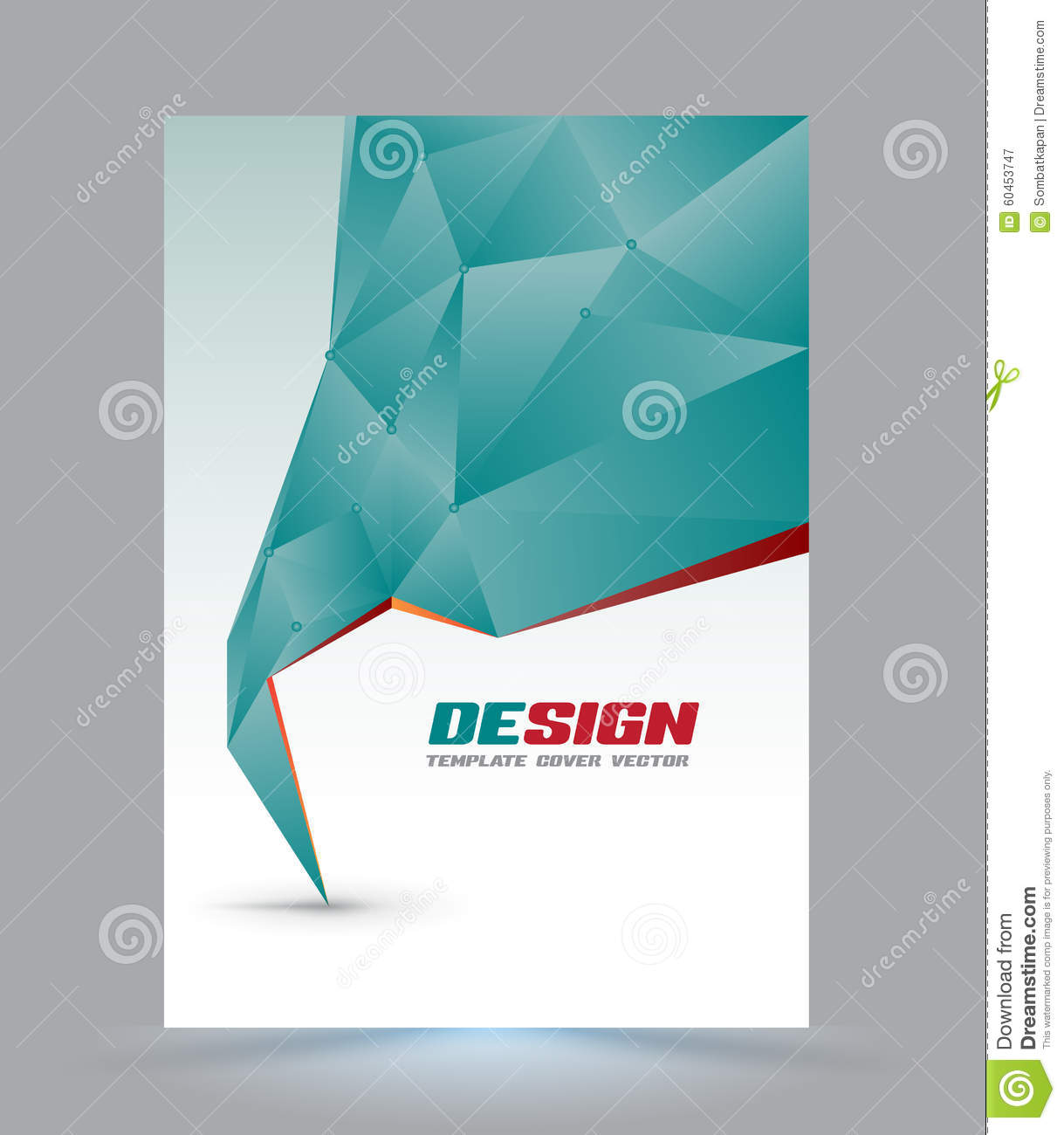 Cover Page Layout Template Stock Vector Image 60453747