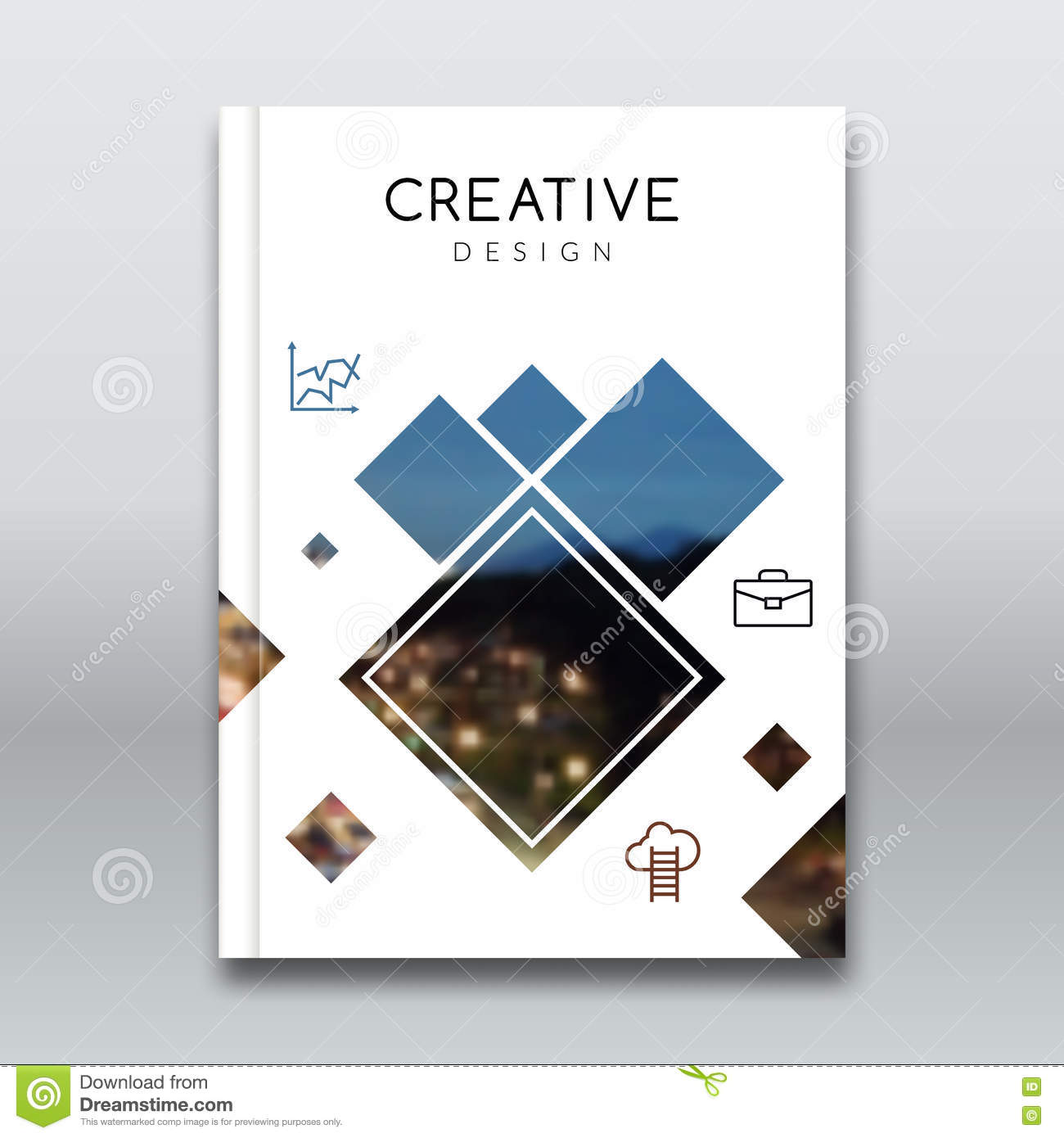 Cover Report Brochure Colorful Pilygonal Geometric Design Background, Cover Flyer Magazine ...