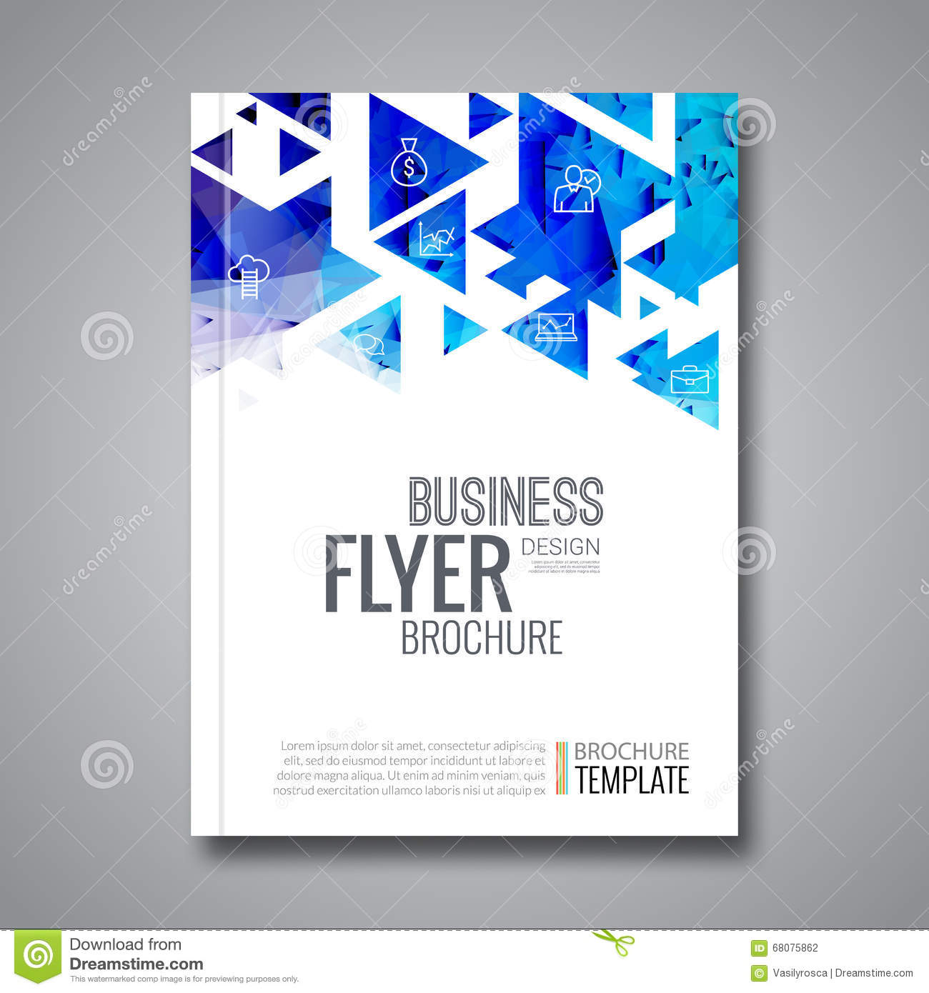 Background Design For Book Cover : Cover report colorful triangle geometric prospectus design
