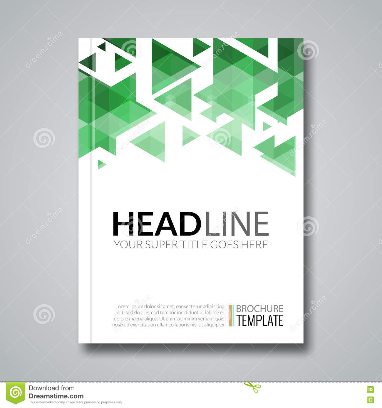 Brochure Booklet Flyer Or Book Cover Template Vector : Cover report colorful triangle geometric prospectus design