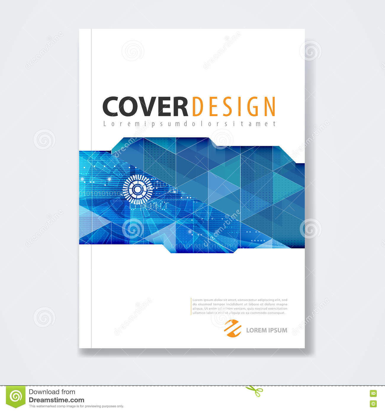 Cover Template, Brochure Template Layout, For Technology Concept ...