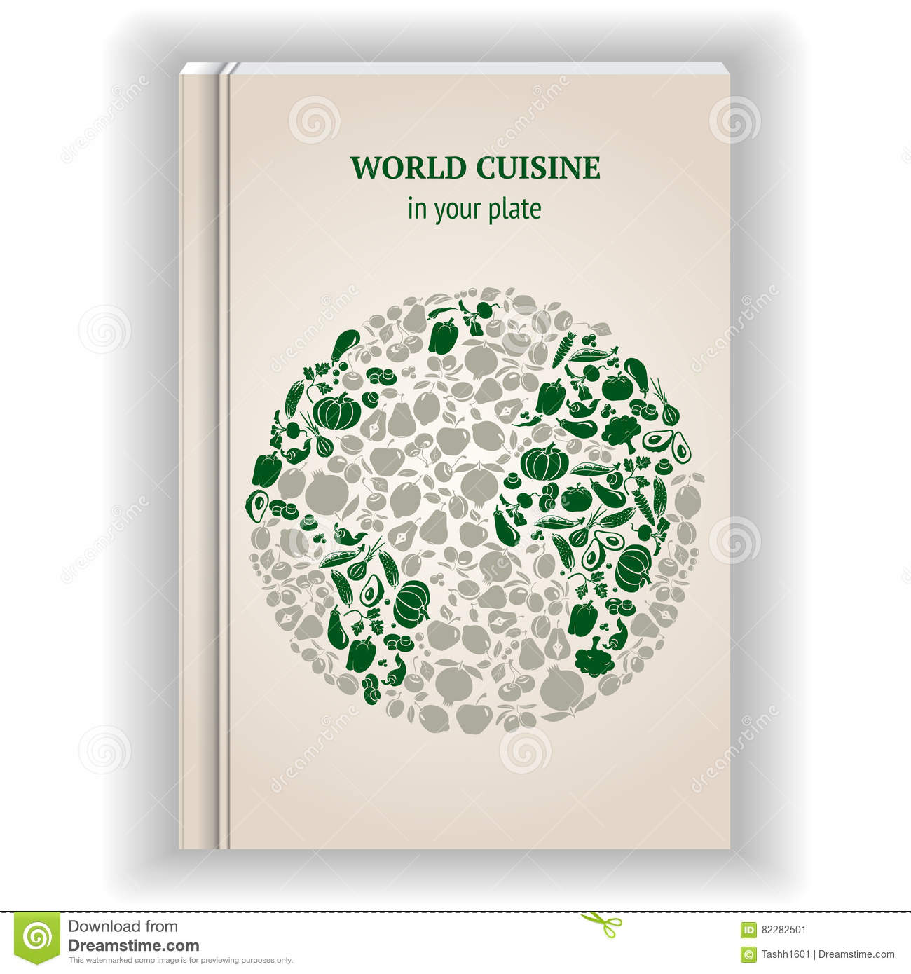 cover template cookbook stock vector illustration of cabbage 82282501