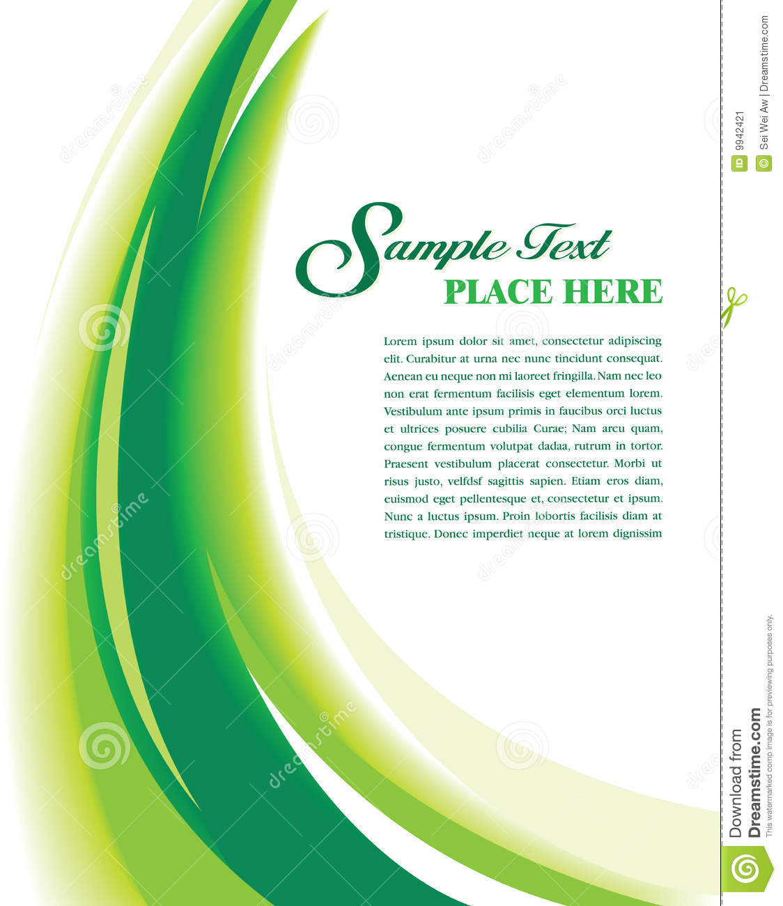 Cover Template Green stock vector. Illustration of flow - 9942421