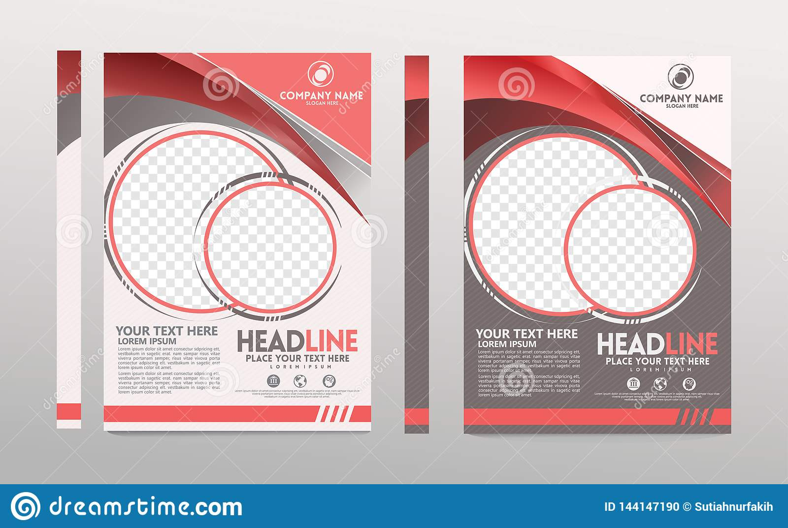 Cover template a4 size. Business brochure design. Annual report cover. Vector illustration