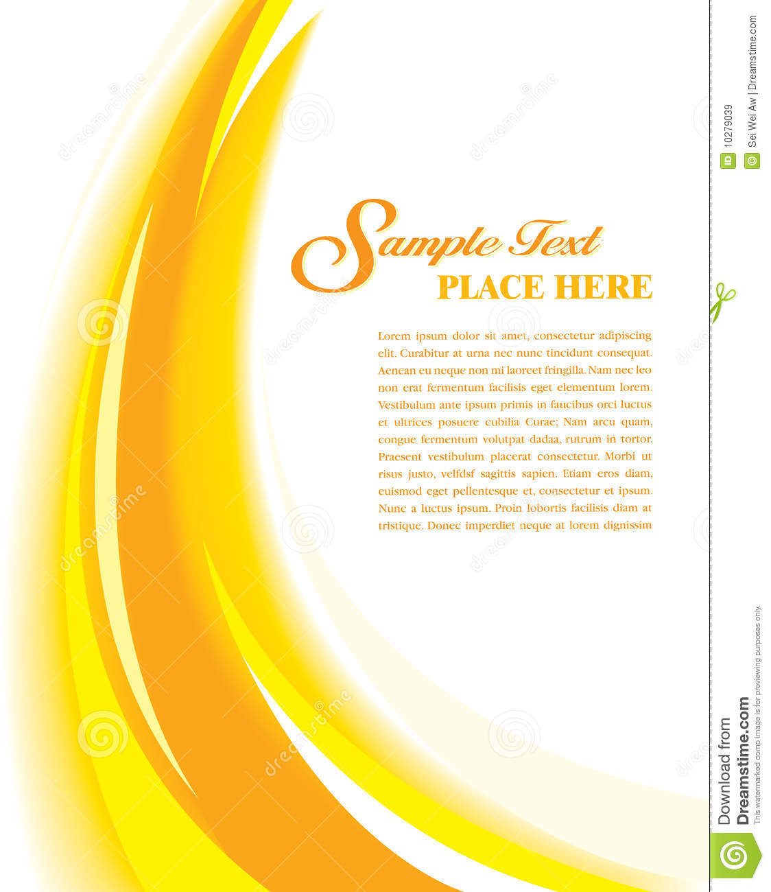 Cover template yellow stock vector illustration of for Assignment front page decoration