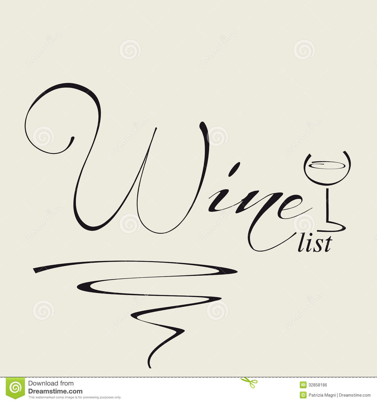 Cover For Wine List Royalty Free Stock Image - Image: 32858186