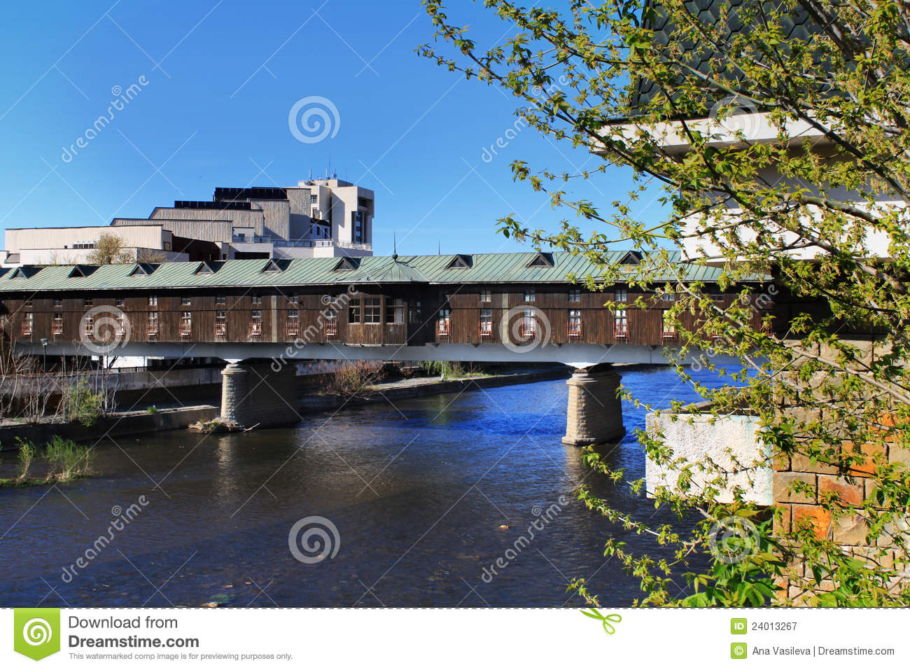 Covered Bridge, Lovech, Bulgaria Royalty Free Stock Photography ...