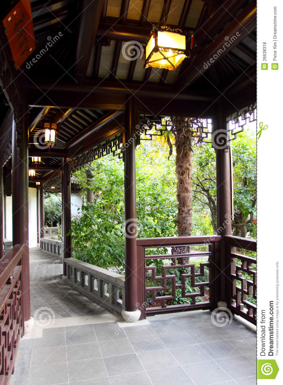 Covered Walkway Royalty Free Stock Photos Image 26638318