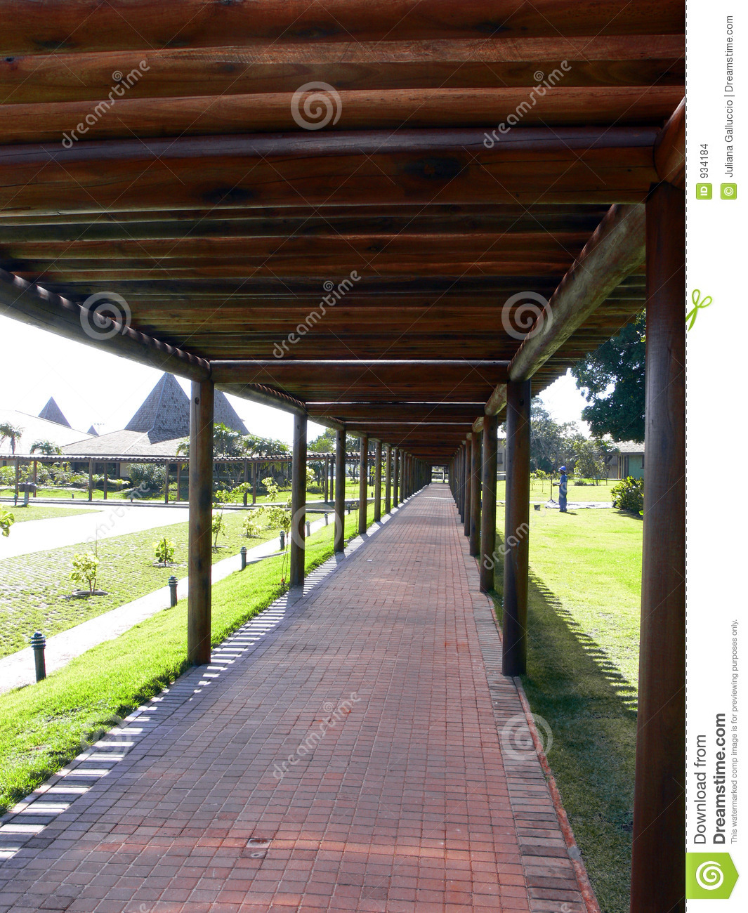 Covered Walkway At Hotel Stock Photo Image Of Walk