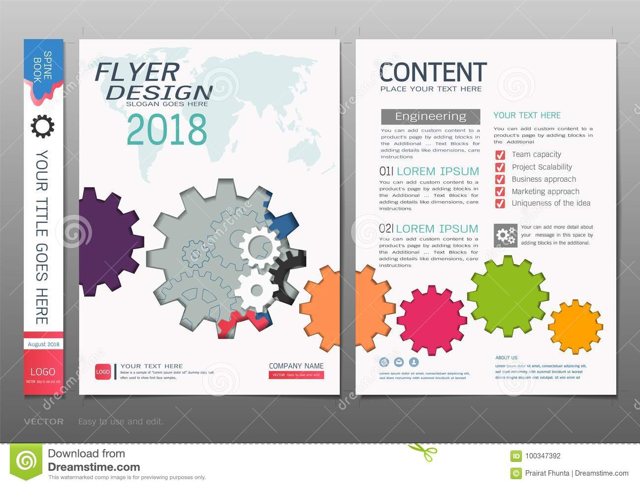 covers book design template vector business engineering concepts