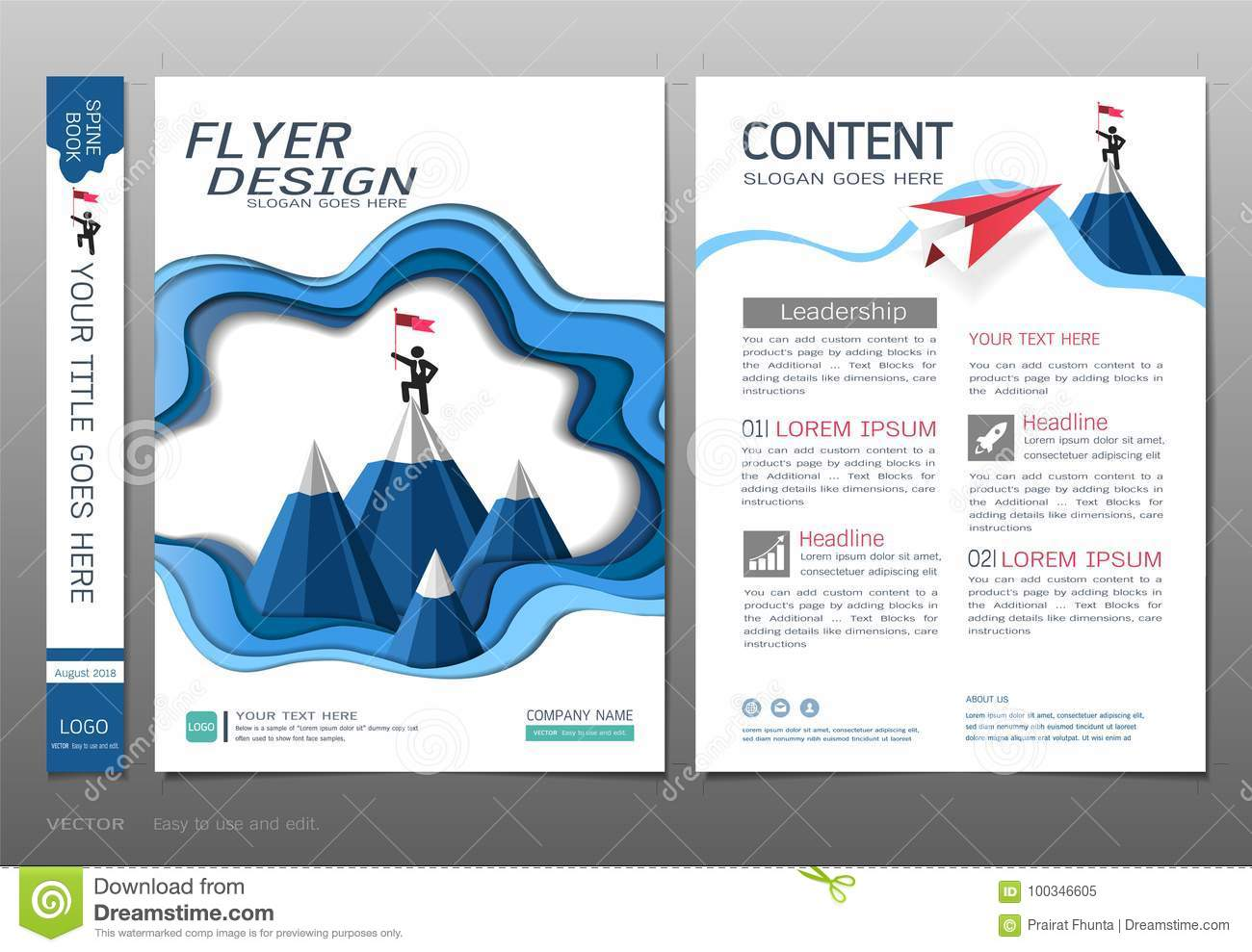 Covers Book Design Template Vector, Business Engineering