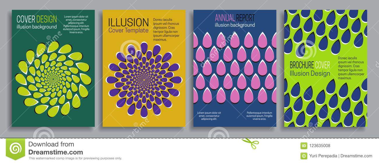 Covers Illusion Templates Booklet Brochure Annual Report Poster