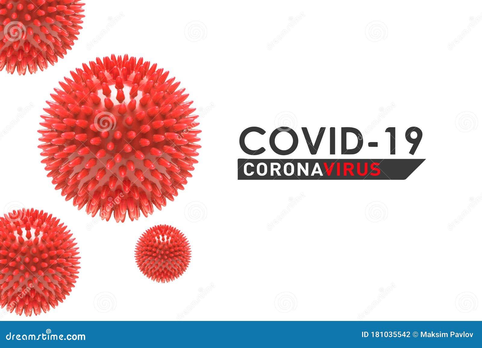 COVID-19. Coronavirus Concept Inscription Typography ...