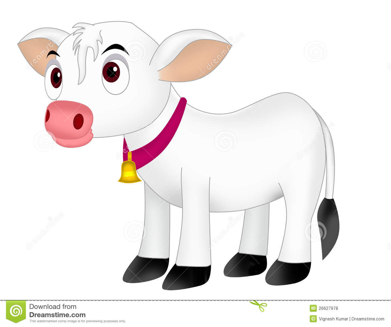 Cow calf stock illustration. Image of holstein, isolated ...