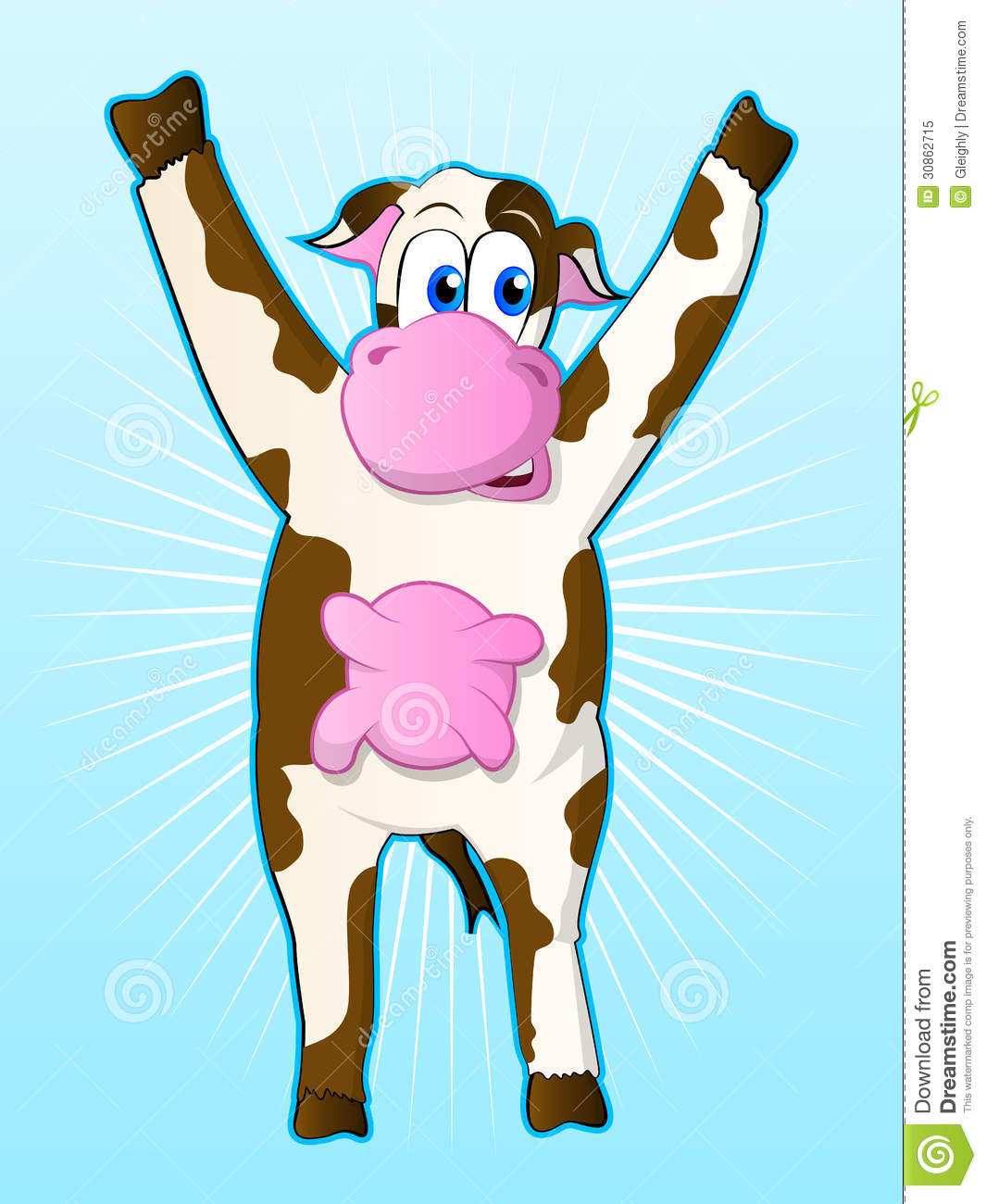 Animated baby cows
