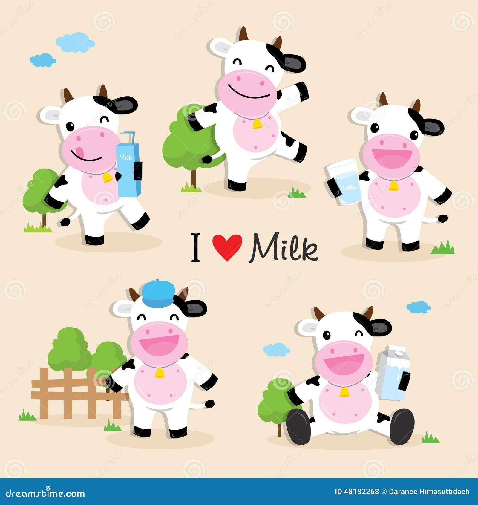 Cute Cartoon Character Design : Cow cute character cartoon design vector stock