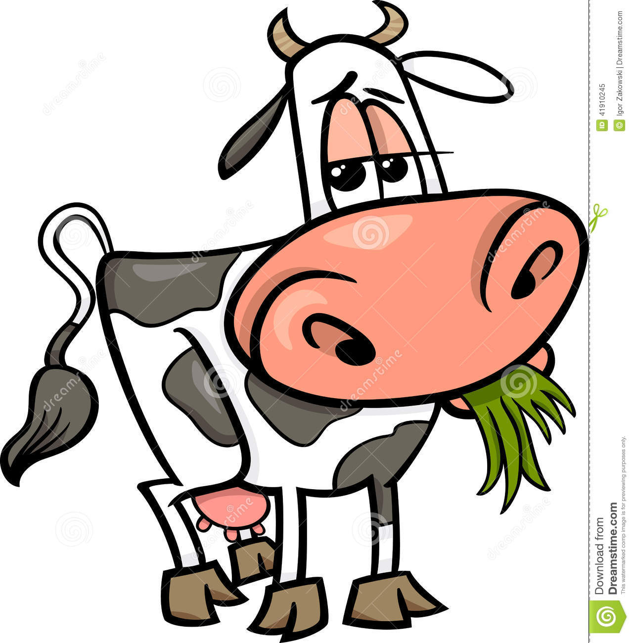 Cow Farm Animal Cartoon Illustration Stock Vector