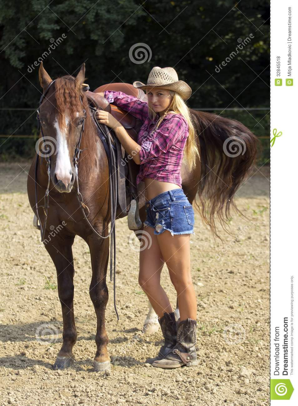Cow-girl blonde