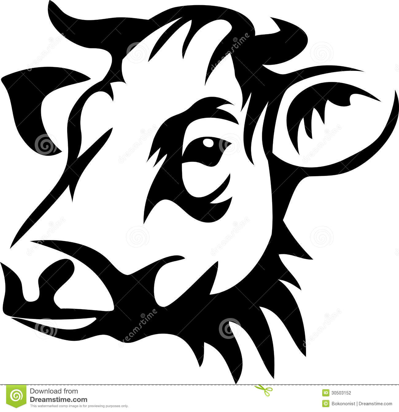 Cow stock vector. Illustration of farming, rural ...