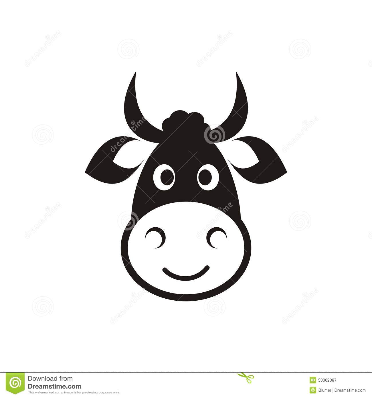 Cow Head Icon Stock Vector Illustration Of Head Funny 50002387