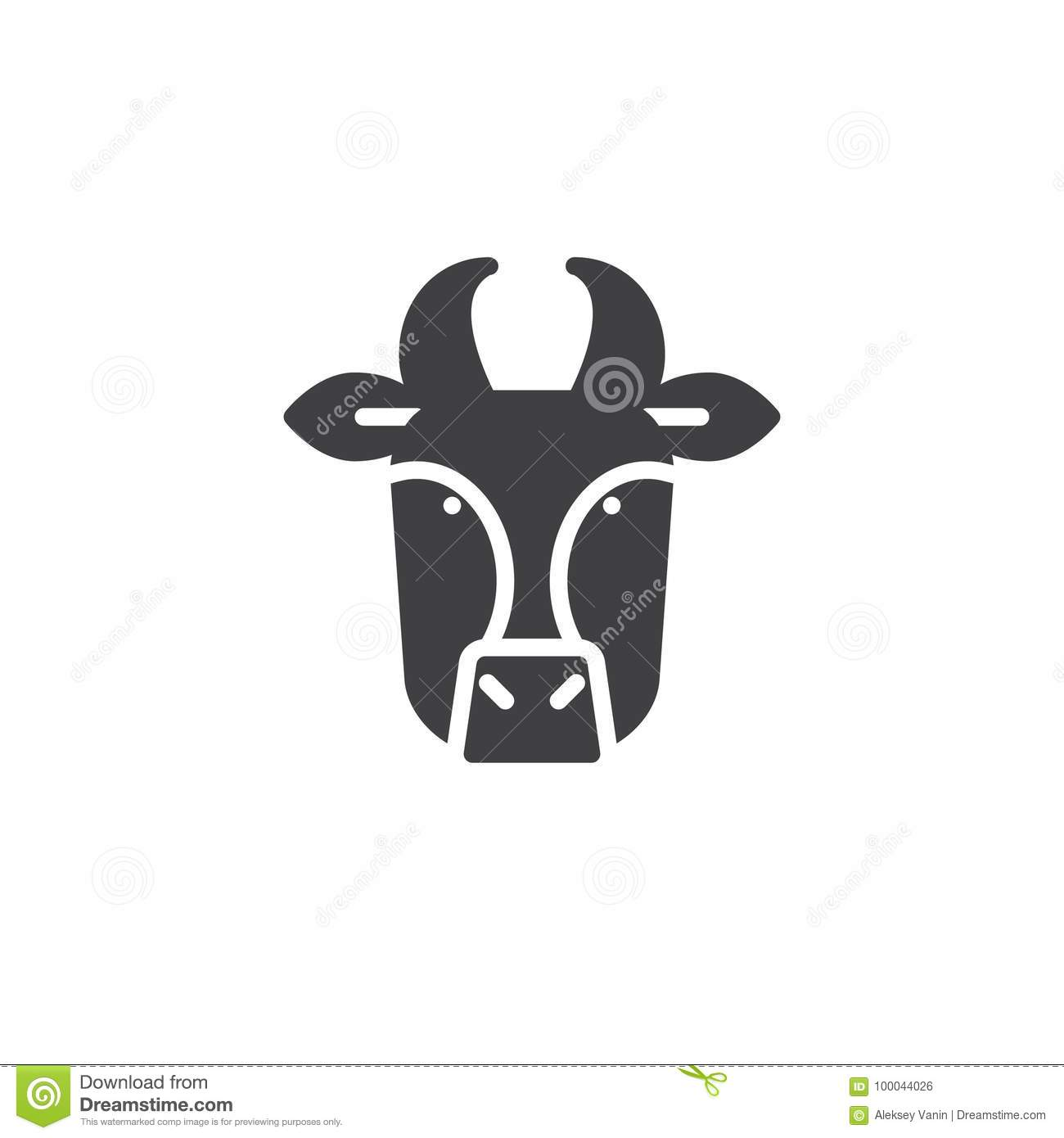 Cow Head Icon Vector Stock Vector Illustration Of Face 100044026