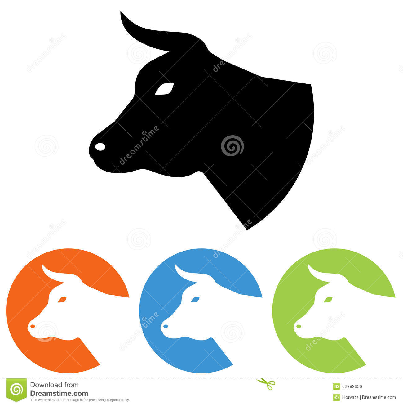 Cow Head Icon Stock Vector Illustration Of Dairy Character 62982656