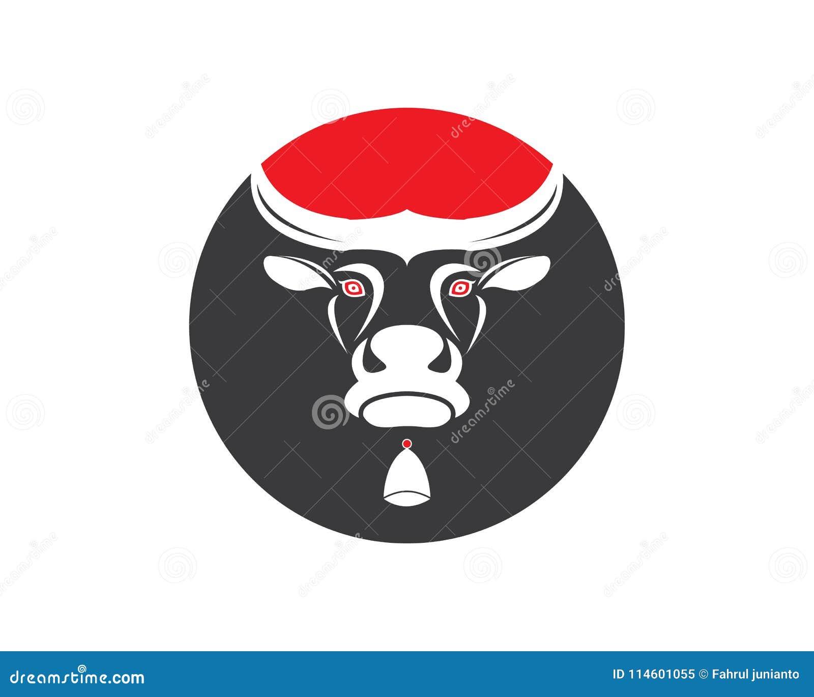 cow head logo vector template stock vector illustration of farm